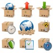 Vector Shipment Icons Set 9 — Stock Vector #30193743