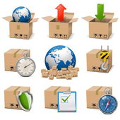 Vector Shipment Icons Set 9 — Stock Vector
