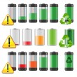 Vector Battery Icons Set — Stock Vector