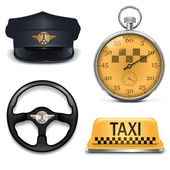 Vector Retro Taxi Icons — Stock Vector