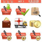Vector Shopping Icons Set 3 — Stock Vector