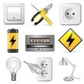 Vector Electrical Icons — Stock Vector