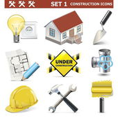 Vector Construction Icons Set 1 — Stock Vector