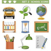 Vector School Icons Set 3 — Stock Vector