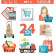 Stock Vector: Vector Shopping Icons Set 4