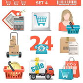 Vector Shopping Icons Set 4 — Stock Vector