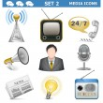 Vector Media Icons Set 2 — Stock Vector