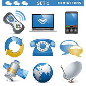 Vector Media Icons Set 1 — Stock Vector