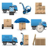 Vector Delivery Icons Set 4 — Stock Vector