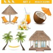 Vector Beach Icons Set 2 — 图库矢量图片