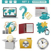 Vector Business Icons Set 2 — Stock Vector