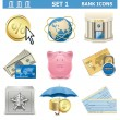 Vector Bank Icons Set 1 — Stock Vector