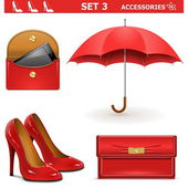 Vector Female Accessories Set 3 — Stock Vector