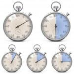 set rétro chronomètre Vector — Vecteur