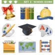 Stock Vector: Vector School Icons Set 2