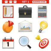 Vector Business Icons Set 1 — Stock Vector