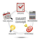 Vektor smart koncept — Stockvektor