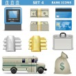 Stock Vector: Vector Bank Icons Set 4