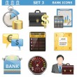 Vector Bank Icons Set 3 — Stock Vector