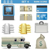 Vector Bank Icons Set 4 — Stock Vector