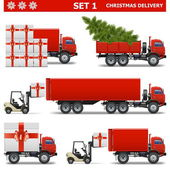 Vector Christmas Delivery Set 1 — Stock Vector