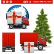 Vector Christmas Delivery Set 3 — Stock Vector