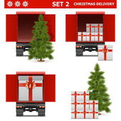 Vector Christmas Delivery Set 2 — Stockvektor