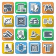 Vector Bank Flat Icons — Stock Vector