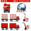 Vector Christmas Delivery Set 4 — Stock Vector