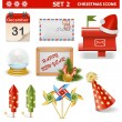 Vector Christmas Icons Set 2 — Stock Vector