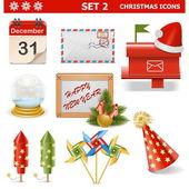 Vector Christmas Icons Set 2 — Stock Vector