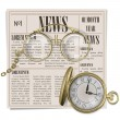 Vector Retro Newspaper Concept — Stock Vector