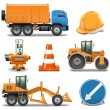 Stock Vector: Vector Road Construction Icons