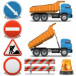 Vector Road Construction Icons set 2 — Stock Vector #38280001