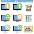 Stock Vector: Vector Computer Icons Set 7