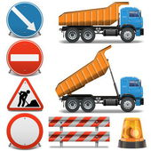 Vector Road Construction Icons set 2 — Stock Vector