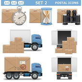 Vector Postal Icons Set 2 — Stock Vector