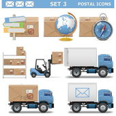 Vector Postal Icons Set 3 — Stock Vector