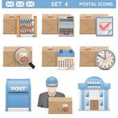 Vector post-ikoner set 4 — Stockvektor