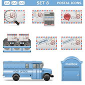 Vector Postal Icons Set 8 — Stock Vector