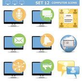 Vector Computer Icons Set 12 — Stock Vector