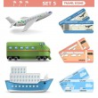 Vector Travel Icons Set 5 — Stock Vector