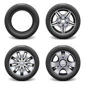 Vector Wheels — Stock Vector