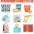 Vector Shopping Icons Set 5 — Stock Vector #41743999