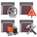 Vector Garage Icons set 3 — ストックベクタ