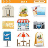 Vector travel icons set 8 — Stock Vector