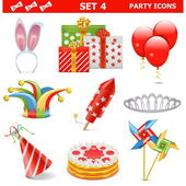 Vector Party Icons Set 4 — Stock Vector