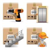 Vector Shipment Icons Set 30 — Stock Vector