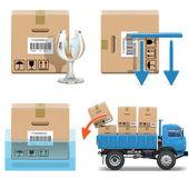 Vector Shipment Icons Set 31 — Stock Vector