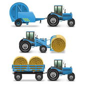 Vector Agricultural Tractor Set 5 — Stock Vector